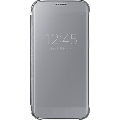 Samsung S-View Flip Cover for Samsung Galaxy S7, Silver (EF-ZG930CSEGUS)