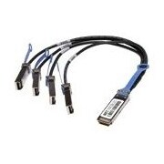 Netpatibles QSFP-4X10G-AC10M-NP 32.81' QSFP+/SFP+ Splitter Network Cable