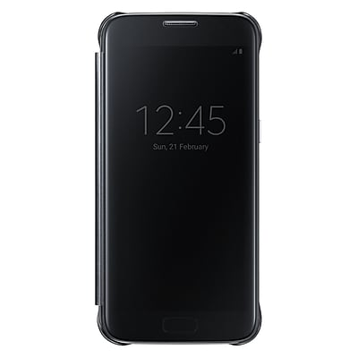 Samsung S-View Flip Cover for Samsung Galaxy S7, Black (EF-ZG930CBEGUS)