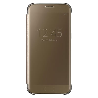 Samsung S-View Flip Cover for Samsung Galaxy S7, Gold (EF-ZG930CFEGUS)