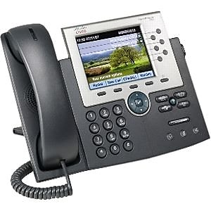 Cisco™ CP-7965G-RF 6-Line Corded Unified IP Phone, Office Phones, Gray/Silver