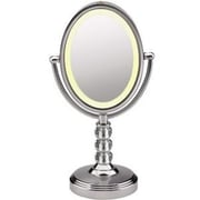 "CONAIR-PERSONAL CARE Oval Crystal Ball Accent Mirror, 6 1/2"" x 8 1/2"" (BE71CT)"