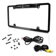 Pyle PLCM16BP License Plate Frame Rear View Backup Parking Assist Camera