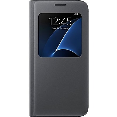 Samsung S-View Flip Cover for Samsung Galaxy S7, Black (EF-CG930PBEGUS)