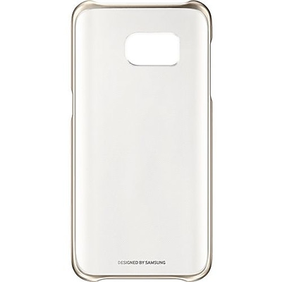 Samsung Protective Cover for Samsung Galaxy S7, Clear Gold (EF-QG930CFEGUS)