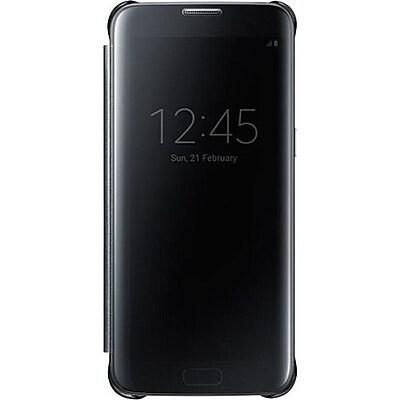 Samsung S-View Flip Cover for Samsung Galaxy S7 Edge, Black (EF-ZG935CBEGUS)