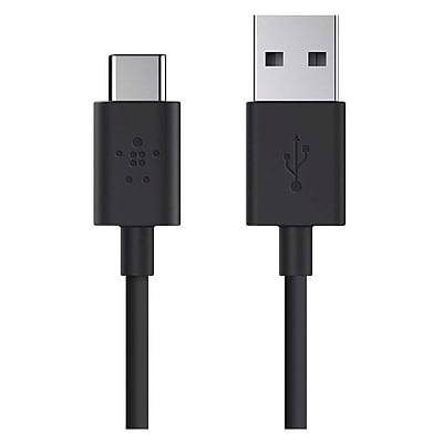 Belkin™ 6' USB 2.0 Type-A to USB Type-C Charge Cable, Male to Male, Black (F2CU032BT06-BLK)