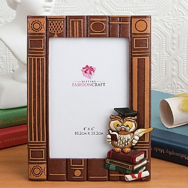 FashionCraft Graduation Owl Picture Frame