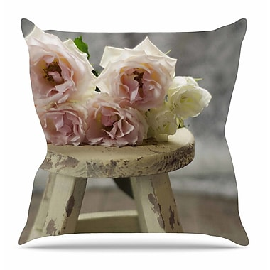 KESS InHouse Roses on Stool by Cristina Mitchell Throw Pillow; 16'' H x 16'' W x 3'' D