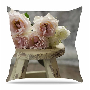 KESS InHouse Roses on Stool by Cristina Mitchell Throw Pillow; 18'' H x 18'' W x 3'' D