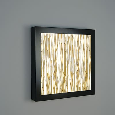 WPT Design V-II 4-Light Wall Sconce; Structured Bamboo