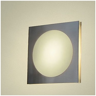 WPT Design Basic Pared 1-Light Wall Sconce; Polished Stainless Steel