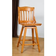 Benkel Seating 30'' Swivel Bar Stool; Cherry