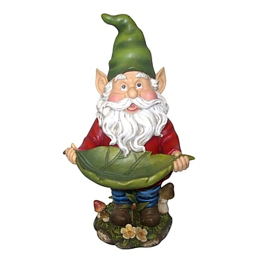 Woodland Imports Gnome Decorative Tray Bird Feeder