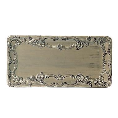 Intrada Baroque Large Rectangular Platter; Taupe