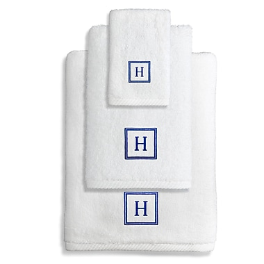 Linum Home Textiles Personalized Soft Twist 3 Piece Towel Set; V