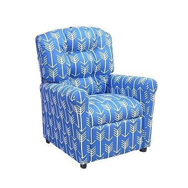Brazil Furniture Arrow Kids Recliner; Cobalt