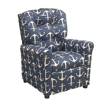 Brazil Furniture Sailor Kids Recliner; Navy