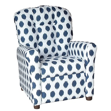 Brazil Furniture Jojo Kids Recliner; Navy
