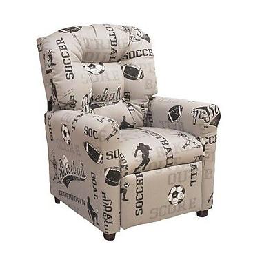 Brazil Furniture Sports Kids Recliner; Storm