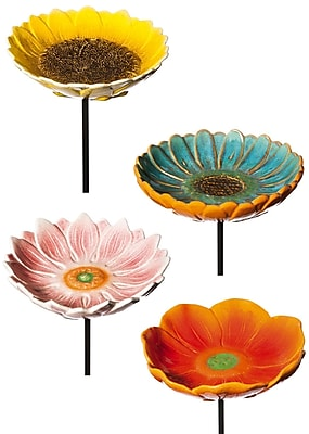 Evergreen Enterprises, Inc Decorative Flower Garden Stake Set (Set of 4) WYF078278154058