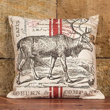 Ragon House Collection Deer w/ Stripe Linen Throw Pillow