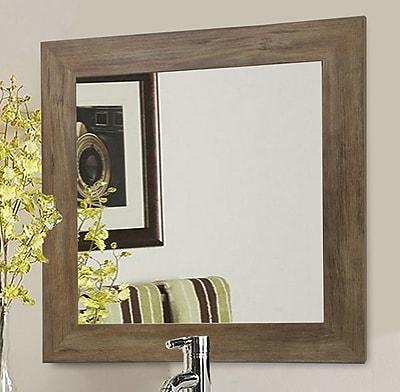 Rayne Mirrors Barnwood Wall Mirror; 29.5'' x 29.5''