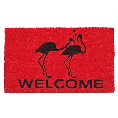Home & More Flamingo Welcome Doormat