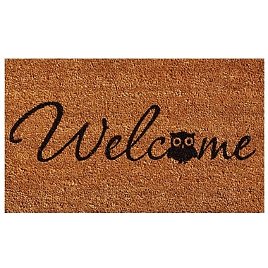 Home & More Barn Owl Welcome Doormat; Rectangle 1'5'' x 2'5''