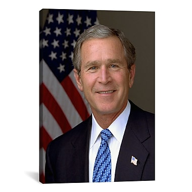 iCanvas Political George W. Bush Portrait Photographic Print on Canvas; 40'' H x 26'' W x 1.5'' D