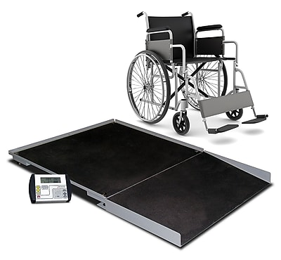 Detecto Digital Geriatric Stationary Wheelchair Scale; 48'' x 48''