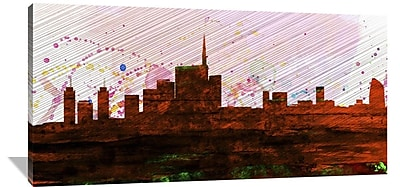 Naxart 'Milan City Skyline' Graphic Art on Wrapped Canvas; 30'' H x 60'' W x 1.5'' D