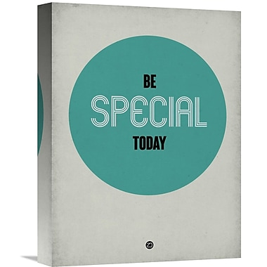 Naxart 'Be Special Today 1' Textual Art on Wrapped Canvas; 16'' H x 12'' W x 1.5'' D