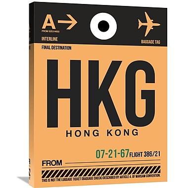 Naxart 'HKG Hog Kong Luggage Tag 2' Graphic Art on Wrapped Canvas; 32'' H x 24'' W x 1.5'' D