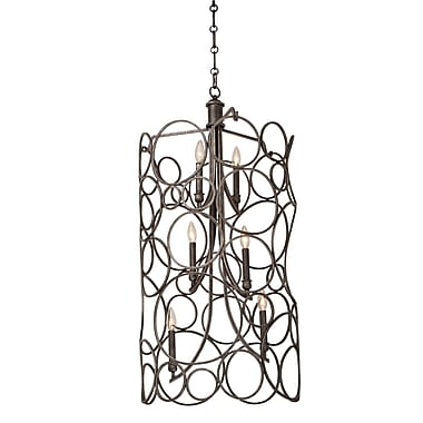 Kalco Ashbourne 6-Light Pendant; Heirloom Bronze