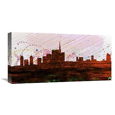 Naxart 'Milan City Skyline' Graphic Art on Wrapped Canvas; 12'' H x 24'' W x 1.5'' D