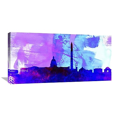 Naxart 'Washington DC City Skyline' Graphic Art on Wrapped Canvas; 18'' H x 36'' W x 1.5'' D