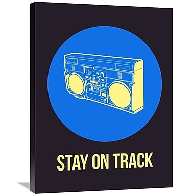 Naxart 'Stay On Track BoomBox 2' Graphic Art on Wrapped Canvas; 32'' H x 24'' W x 1.5'' D