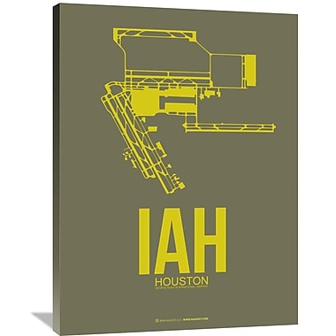 Naxart 'IAH Houston Airport 2' Graphic Art on Wrapped Canvas; 40'' H x 30'' W x 1.5'' D