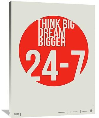 Naxart 'Think Big Dream Bigger Poster' Textual Art on Wrapped Canvas; 40'' H x 30'' W x 1.5'' D