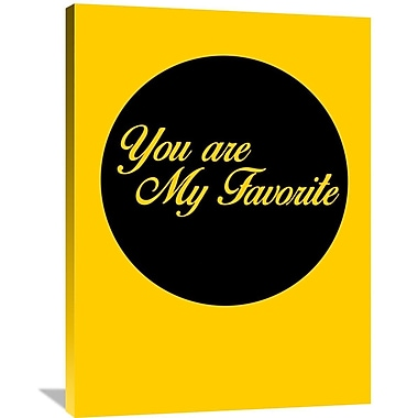 Naxart 'You Are My Favorite 1' Textual Art on Wrapped Canvas; 40'' H x 30'' W x 1.5'' D
