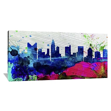 Naxart 'Columbus City Skyline' Graphic Art on Wrapped Canvas; 36'' H x 72'' W x 1.5'' D