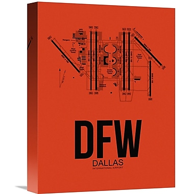 Naxart 'DFW Dallas Airport' Graphic Art on Wrapped Canvas; 16'' H x 12'' W x 1.5'' D