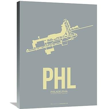 Naxart 'PHL-Philadelphia Poster 1' Graphic Art on Wrapped Canvas; 32'' H x 24'' W x 1.5'' D