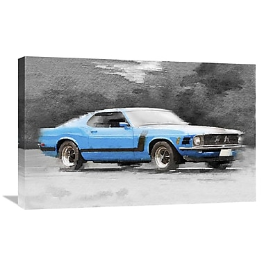 Naxart '1970 Ford Mustang Boss' Painting Print on Wrapped Canvas; 20'' H x 30'' W x 1.5'' D