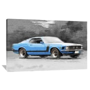 Naxart '1970 Ford Mustang Boss' Painting Print on Wrapped Canvas; 40'' H x 60'' W x 1.5'' D