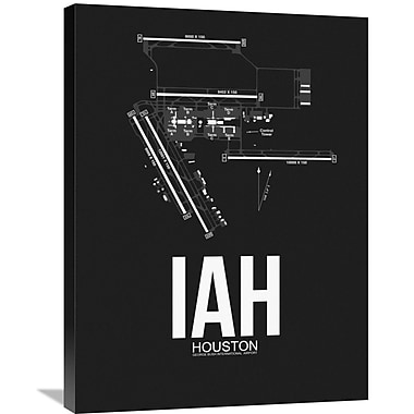Naxart 'IAH Houston Airport' Graphic Art on Wrapped Canvas; 32'' H x 24'' W x 1.5'' D