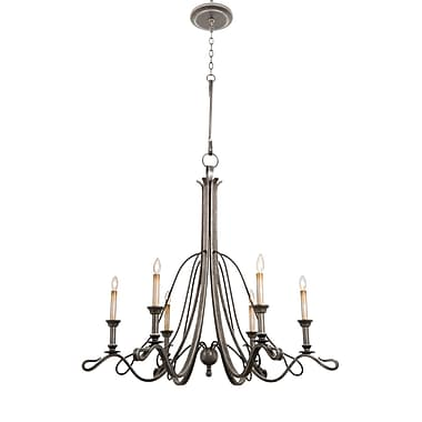 Kalco Keller 6-Light Candle-Style Chandelier; Vintage Iron