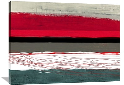 Naxart 'Abstract Stripe' Graphic Art on Wrapped Canvas; 30'' H x 40'' W x 1.5'' D