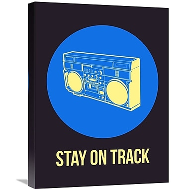 Naxart 'Stay On Track BoomBox 2' Graphic Art on Wrapped Canvas; 24'' H x 18'' W x 1.5'' D